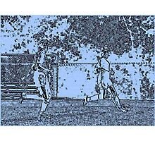 092412 062 0 pen sketch soccer Photographic Print