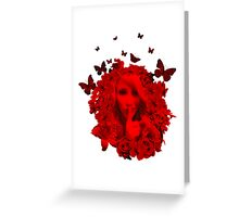Secret Garden T Shirt in Crimson Greeting Card
