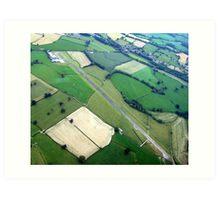 Welshpool Airfield Aerial shot Art Print