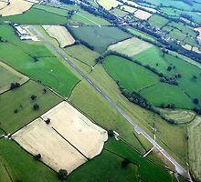 Welshpool Airfield Aerial shot by John Maxwell