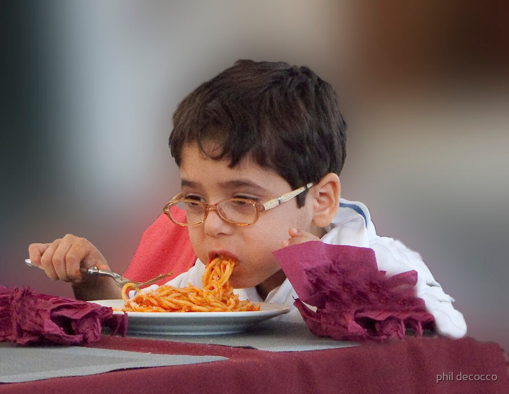 Spaghetti Kid by phil decocco