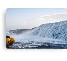 Wall Of Water ~ Lyme Regis Canvas Print