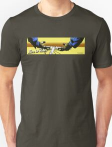 Live to Ride Handle Bars - Blue/Yellow T-Shirt