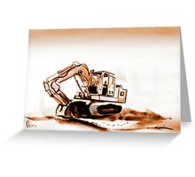 Quittin Time Sepia Greeting Card