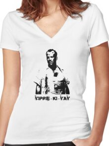 Yippee-ki-yay! Women's Fitted V-Neck T-Shirt