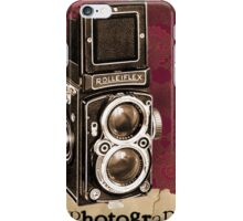 Vintage camera poster iPhone Case/Skin