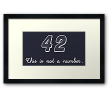 42 This is not a Number Framed Print