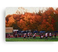 Autumn Football with Sponge Painting Effect Canvas Print