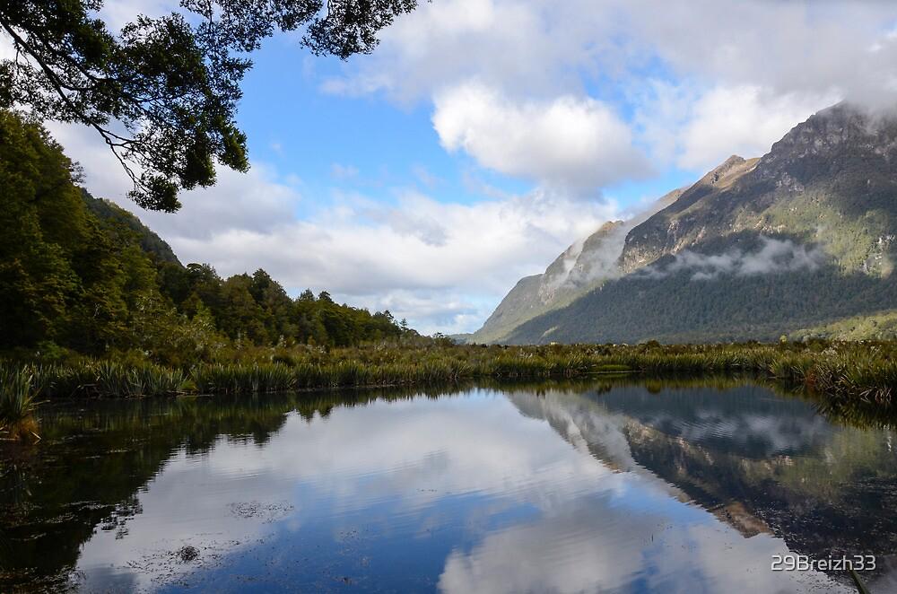Mirror Lake near Milford Sound by 29Breizh33