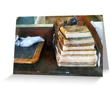 Teacher - Old School Books and Slate Greeting Card