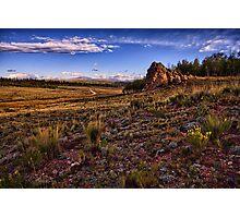 Brisk Morning in Como, Colorado Photographic Print