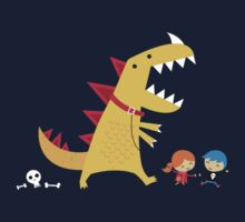 Dino Walk One Piece - Short Sleeve