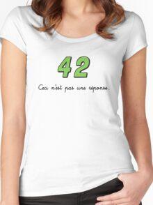 42 n'est pas une réponse (DARK) Women's Fitted Scoop T-Shirt