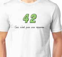 42 n'est pas une réponse (DARK) Unisex T-Shirt