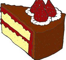 Vanilla Strawberry Cake by RiverbyNight