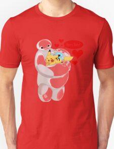 Baymax hugs Pokemon Hairy Baby hero T-Shirt