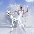 Winter Fairy and Unicorn by LoneAngel