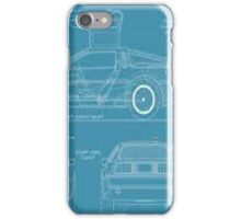 BTTF DELOREAN DRAWINGS iPhone Case/Skin