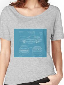 BTTF DELOREAN DRAWINGS Women's Relaxed Fit T-Shirt