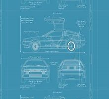 BTTF DELOREAN DRAWINGS by jomacart
