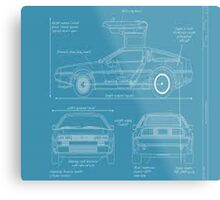 BTTF DELOREAN DRAWINGS Metal Print