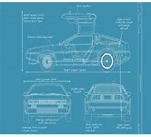 BTTF DELOREAN DRAWINGS Photographic Print