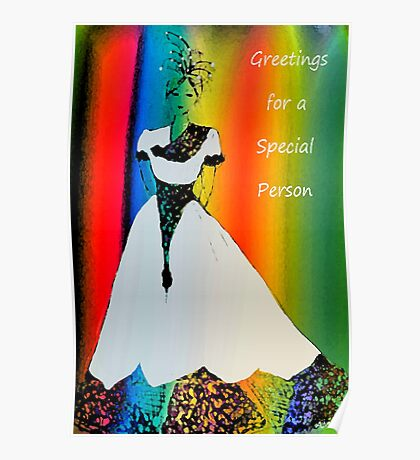 Special person card Poster