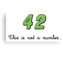 42 This is not a Number (dark) Canvas Print