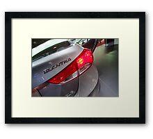 Hyundai Elantra Back Red Light [ Print & iPad / iPod / iPhone Case ] Framed Print