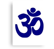 Om yoga Canvas Print