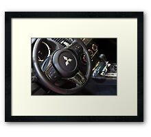 Mitsubishi Lancer Evolution X Wheel [ Print & iPad / iPod / iPhone Case ] Framed Print