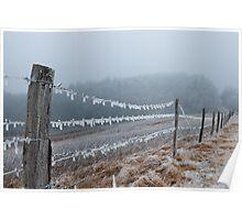 Blue Ridge Parkway Ice Poster