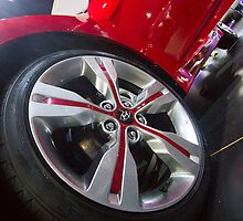 Hyundai Veloster Wheel [ Print & iPad / iPod / iPhone Case ] by Mauricio Santana
