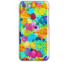 TIME FOR BUBBLY - Colorful Bright Bold Abstract Acrylic Painting, Turquoise Royal Blue Magenta iPhone Case/Skin
