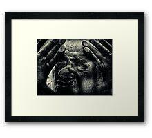 Let me in.... Framed Print