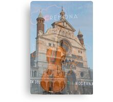 The magnificent cathedral city of Cremona in Italy Canvas Print