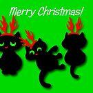 Santa's little helpers Christmas Card by patjila