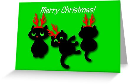 Santa's little helpers Christmas Card by patjila