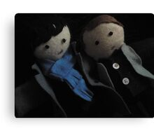 Sherlock and John Canvas Print