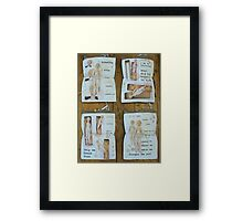 rites of passage Framed Print