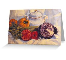 Still life with white pot Greeting Card