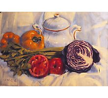 Still life with white pot Photographic Print