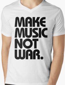 Make Music Not War Mens V-Neck T-Shirt