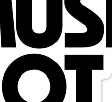 Make Music Not War Sticker