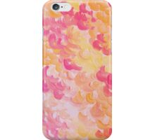 PINK PLUMES - Soft Pastel Wispy Pretty Peach Melon Clouds Strawberry Pink Abstract Acrylic Painting  iPhone Case/Skin