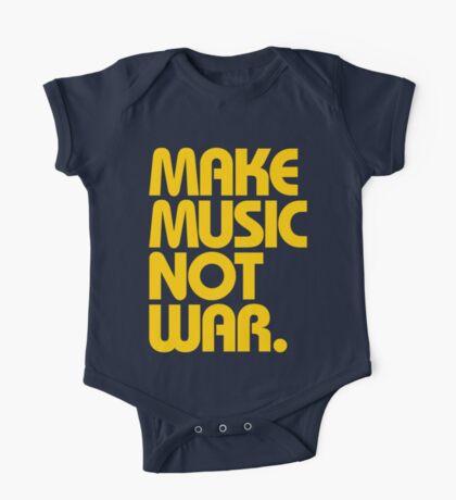 Make Music Not War (Mustard) One Piece - Short Sleeve