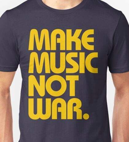 Make Music Not War (Mustard) Unisex T-Shirt