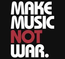 Make Music Not War (black/red) Kids Clothes