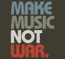 Make Music Not War (Retro) by DropBass