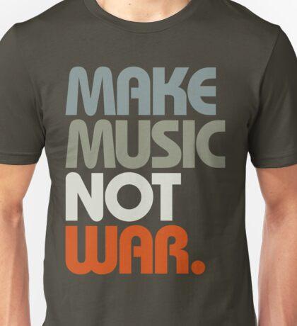 Make Music Not War (Retro) Unisex T-Shirt